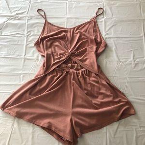 Blush Pink Cutout Romper